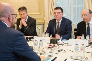UWE, VOKA et BECI ontmoeten de Eerste minister Charles Michel