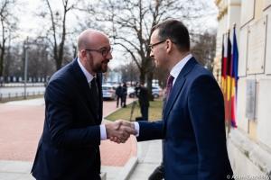 Treffen mit dem polnischen Premierminister Mateusz Morawiecki